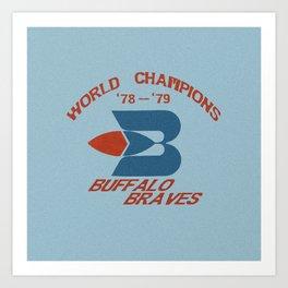 World Champion Braves Art Print