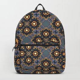 Beautiful Beadwork Inspired Print Backpack