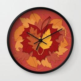 Fall, In Love Wall Clock