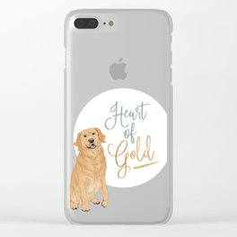 Heart of Gold // Golden Retriever Clear iPhone Case