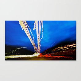 City (Light)s (Graffiti) 10 Canvas Print