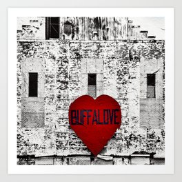 Buffalo Urban movement Art Print