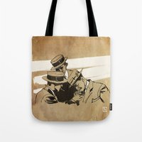 cigarette Tote Bags featuring cigarette  by Todd A. Winter