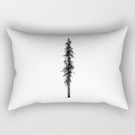 Love in the forest - a couple and their dog under a solitary, towering Douglas Fir tree Rectangular Pillow
