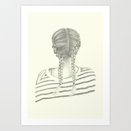 French braids 01 Art Print