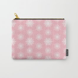 Frosty Snowflakes Sweet Blush Carry-All Pouch