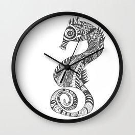 Seahorse Sketch Wall Clock