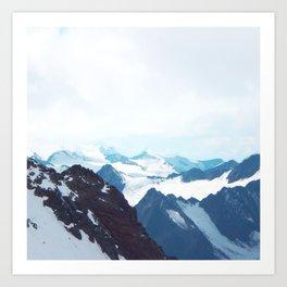 No limits - mountain print Art Print
