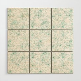 Floral Freeze White Wood Wall Art