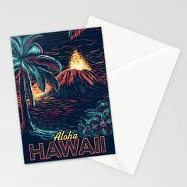 hawaiian night Stationery Cards