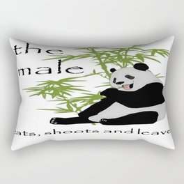 The Male Eats, Shoots and Leaves Rectangular Pillow