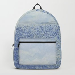 Sparkling Subdued Coastal Moment2 Watercolor Backpack