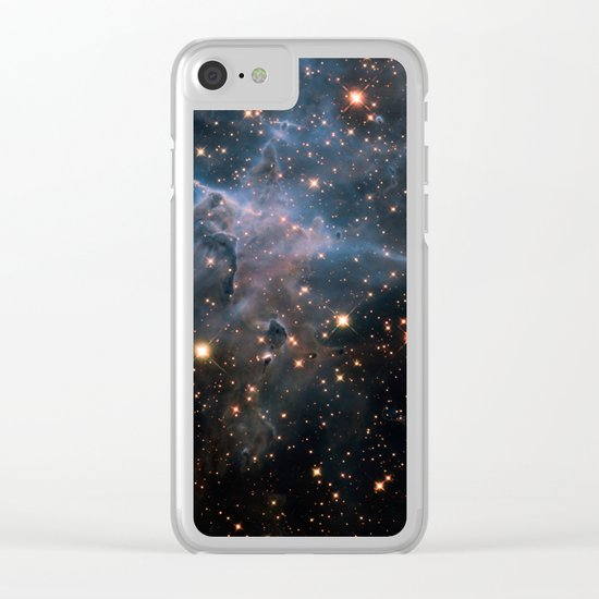 Mystic Mountain Nebula Clear iPhone Case