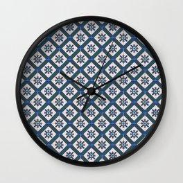 Floor Series: Peranakan Tiles 41 Wall Clock