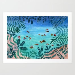 Meet me somewhere in the middle Art Print
