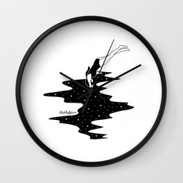 dive into the space Wall Clock