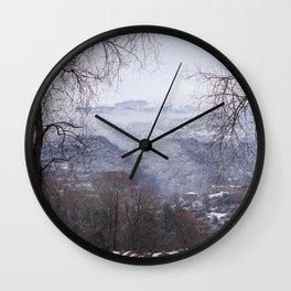 Ohrid, Macedonia winter scene Wall Clock