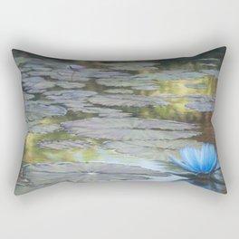 Water Lilies Afloat Rectangular Pillow