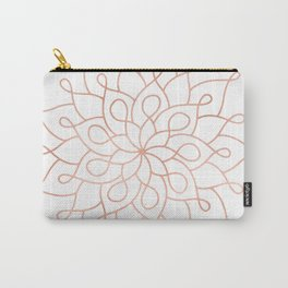 Mandala Rose Gold Pink Star Carry-All Pouch