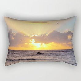 Golden Lining Rectangular Pillow