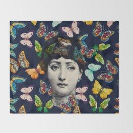 The Butterfly Queen Throw Blanket