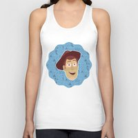 toy story Tank Tops featuring Woody - Toy Story by Kuki