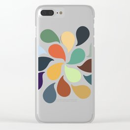 Colorful Water Drops Clear iPhone Case