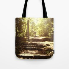 Up the Down Stairs Tote Bag