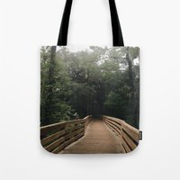 hiking Tote Bags featuring Hiking by Lynette