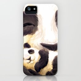Cuddly panda iPhone Case