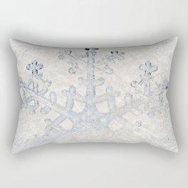 Snowflakes frozen freeze Rectangular Pillow