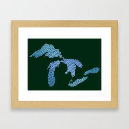 Great Lakes Framed Art Print
