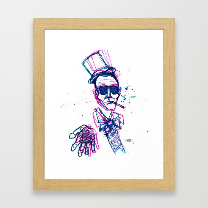 hunter s. wonka Framed Art Print