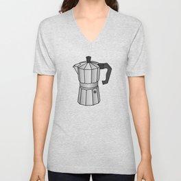 Espresso coffee maker Unisex V-Neck