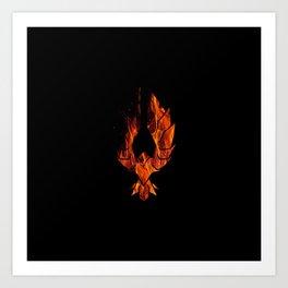The Red Sparrow Fire logo Art Print