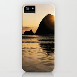 Cannon Beach haystack iPhone Case