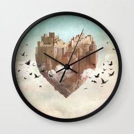 My Heart Is My Castle Wall Clock