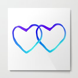 Blue Heart Metal Print