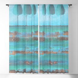 Teal Me A Story Sheer Curtain