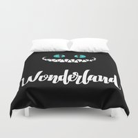 alice wonderland Duvet Covers featuring Wonderland by Insait