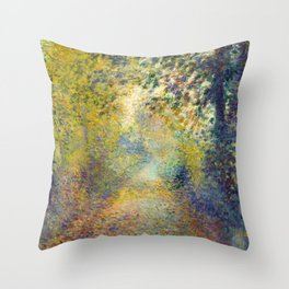 "Auguste Renoir  ""In the Woods"" Throw Pillow"