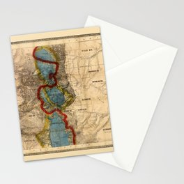 Map Of Colorado 1865 Stationery Cards