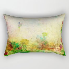 Ginkelmier Land ~ Watercolor Fairy Garden Rectangular Pillow