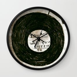 you are what you listen to, GRUNGE Wall Clock