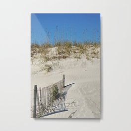 Buried Fence Metal Print
