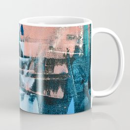 On the Dock: a pretty abstract design in blues and pinks by Alyssa Hamilton Art Coffee Mug