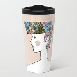 Tartan pink Travel Mug