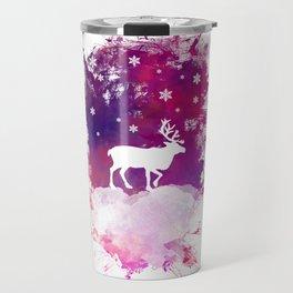Caribou winter art Travel Mug