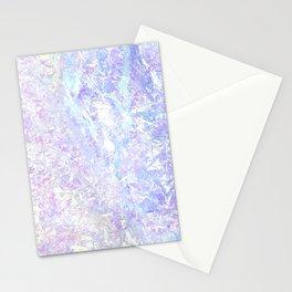 Iridiscent Pastel Crystal Stationery Cards