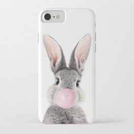 Bunny With Bubble Gum iPhone Case